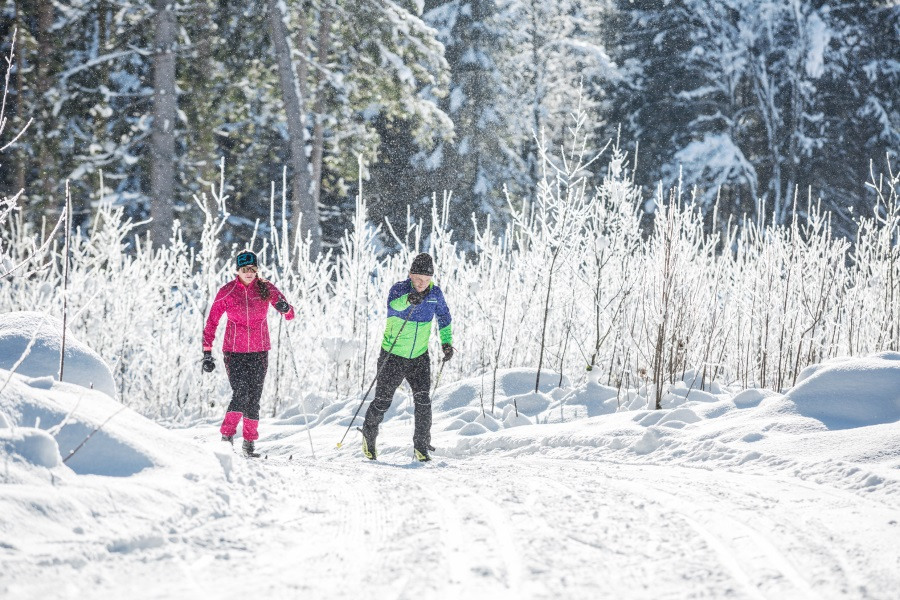 Cross-country skiing in the Kitzbühel Alps